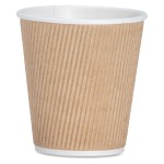 Ripple Hot Cups - 10 fl oz - 500 / Carton - Brown - Hot Drink