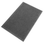 """EcoGuard Indoor Wiper Floor Mats - 36"""" Length x 24"""" Width, Charcoal Gray"""