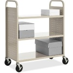 Flat Shelf Book Cart