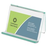 Acrylic Transparent Green Edge Business Card Holder