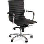 Modern Chair Series Mid-back Leather Chair