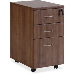 Essentials Walnut Freestanding Mobile Pedestal