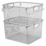 Carry Handle Stacking Mesh Storage Bin