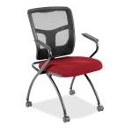 Mesh Back Fabric Seat Nesting Chair