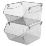 Mesh Stacking Storage Bin