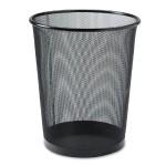 Mesh Round Waste Bin - Black