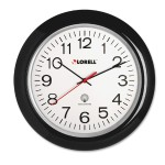 "13.3"" Radio Controlled Wall Clock - Black"