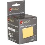 "Direct Thermal White File Folder Labels - 9/16"" x 3-7/16"", 130 Per Roll, 260 Per Box"
