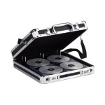 Vaultz Media Binder - Hard case for CD/DVD discs - 200 discs - aluminum, steel - black