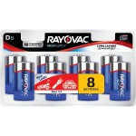Alkaline Batteries, 8 pk (D)