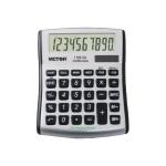 1100-3A - Desktop calculator - 10 digits - solar panel, battery - silver