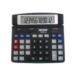 1200-4 - Desktop calculator - 12 digits - solar panel, battery - black
