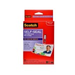 Self-Sealing Laminating Pouches for ID Badges/Tags w/Clips Glossy 2 15/16 in x 4 1/16 in 25 per pack