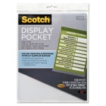 3M Display Pockets, Letter Size, with Command(TM) Fasteners  8.81 in x 11.2 in WL854C