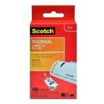 Scotch Thermal Laminating Pouches, ID Badge without Clip 2.48in x 4.21in - 100/pk