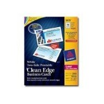 Clean Edge - Business cards - white - 2 in x 3.5 in 2000 card(s) (200 sheet(s) x 10)