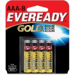 Gold Alkaline AAA Batteries - 24 Packs of 8 Batteries each (192 total)