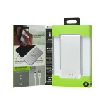 Recharge ULTRATHIN 3000 - Power bank 3000 mAh - 1 A (Micro-USB Type B (power only)) - white, silver