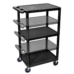 Multi-Height A/V Cart - Three Shelves, Electric