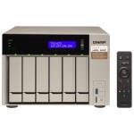 TVS-673 - NAS server - 6 bays - SATA 6Gb/s - RAID 0, 1, 5, 6, 10, JBOD, 5 hot spare, 6 hot spare, 10 hot spare, 1 hot spare - RAM 16 GB - Gigabit Ethernet - iSCSI