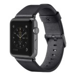 Classic Leather Band for Apple Watch 42mm - Black