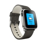 38mm Time Steel Smartwatch for Apple and Android Devices - Black