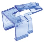 Repair Clip for RJ45 Modular Plug, 50 pk (Transparent Blue)