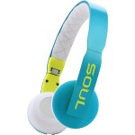 Loop On-Ear Headphones with Microphone (Blue/White)