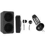 Portable Bluetooth Speaker Pack - Black