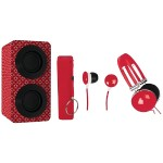 Naxa Electronics Portable Bluetooth Speaker Pack - Red NAS-3061A RED