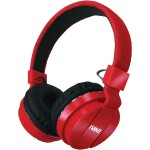 Bluetooth Wireless Stereo Headphones with Microphone - Red