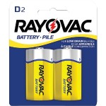 Rayovac Heavy-Duty Carded D Batteries, 2 pk 6D-2BF