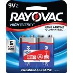 9-Volt Alkaline Batteries, 2 pk