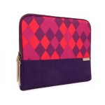 """13"""" Grace Laptop Sleeve - Purple Diamonds"""