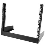8U Desktop Rack - 2-Post Open Frame Rack - 19in Open Frame Desktop Rack - 8U
