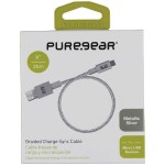 "9"" Round Charge and Sync Cable for Micro USB Devices (Silver)"