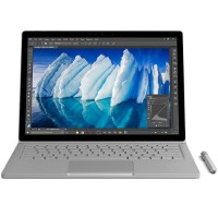 "Microsoft Surface Book Intel Core i5-6300U Dual-Core2.40GHz Commercial Laptop - 8GB RAM, 256GB SSD, 13.5"" PixelSense Touchscreen, 802.11ac + Bluetooth, Front and Rear Cameras, Silver - Refurbished FGJ-00001"