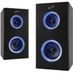 Dual Bluetooth Speakers with LEDs