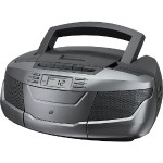 GPX CD Boom Box with AM/FM Radio and Cassette Player BCA206S