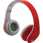 Bluetooth Headphones with Auxiliary Input (Matte Red)