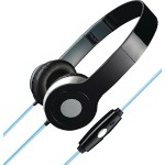 Stereo Designer Headphones with Microphone & Glowing Cable (Black)