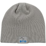 Bluetooth Wireless Knit Stocking Beanie with Microphone (Gray)