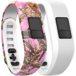 vívofit 3 Accessory Bands (Pink Camo/White)