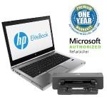 "EliteBook 8470p Intel Core i5-3320M Dual-Core 2.60GHz Notebook PC - 8GB RAM, 128GB SSD, 14.0"" LED HD, DVD-ROM, Gigabit Ethernet, 802.11b/g, Bluetooth, Intel WiDi, Webcam, 6-cell 62 Wh Li-Ion, 90W Docking Station, Silver"