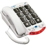 Amplified Telephone with Talk Back Numbers (Black Buttons)