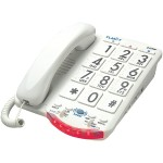 Amplified Telephone with Talk Back Numbers (White Buttons)
