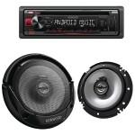 Single-DIN In-Dash CD Receiver & Speaker