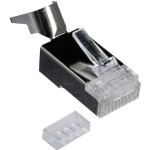 CON-RJ45-3 - Shielded Metal RJ-45 Connector for 23/24 AWG Crimp
