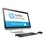 """Pavilion 27-a241 - All-in-one - 1 x Core i7 7700T / 2.9 GHz - RAM 8 GB - HDD 1 TB - DVD-Writer - HD Graphics 630 - WLAN: 802.11a/b/g/n/ac, Bluetooth 4.2 - Win 10 Home 64-bit - monitor: LED 27"""" 1920 x 1080 (Full HD) touchscreen - keyboard: US"""
