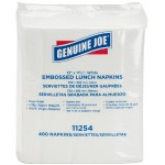 "1-ply Embossed Lunch Napkins - 1 Ply - Quarter-fold - 13"" x 11.25"" - White - Embossed, Soft, Versatile - For Lunch Sheets Per Carton - 2400 / Carton"